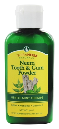 THERANEEM ORGANIX Neem Tooth & Gum Powder Mint 40 grams