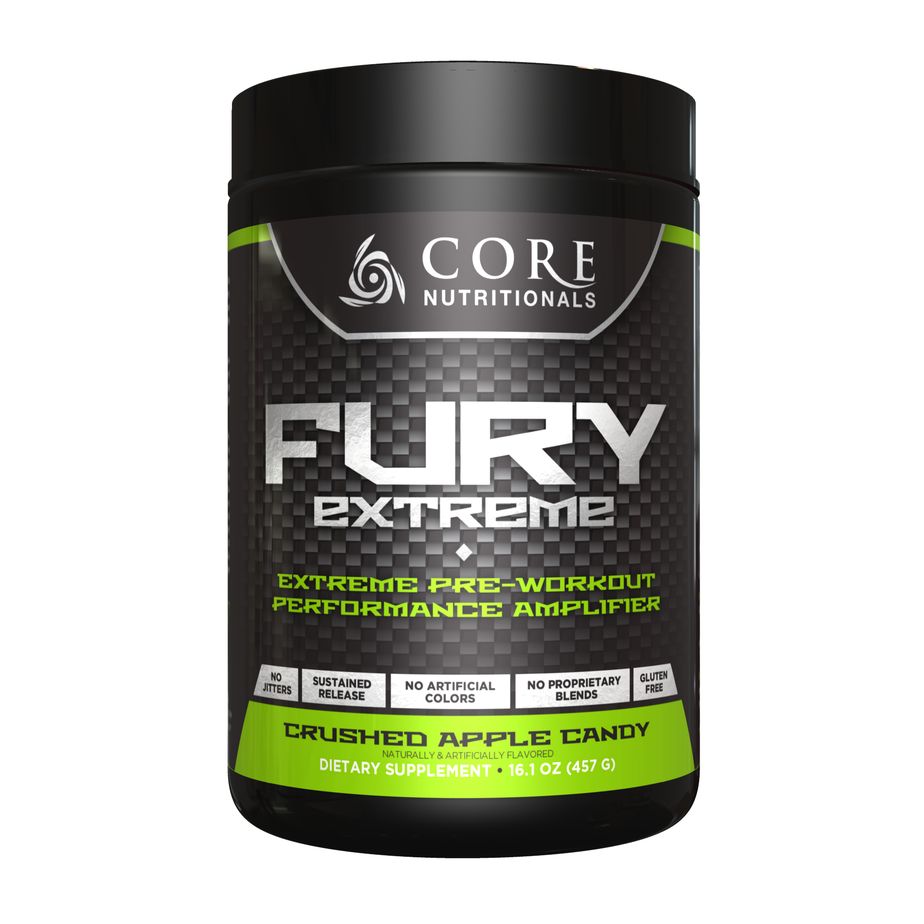 CORE NUTRITIONALS Fury Extreme Crushed Apple Candy 457 grams